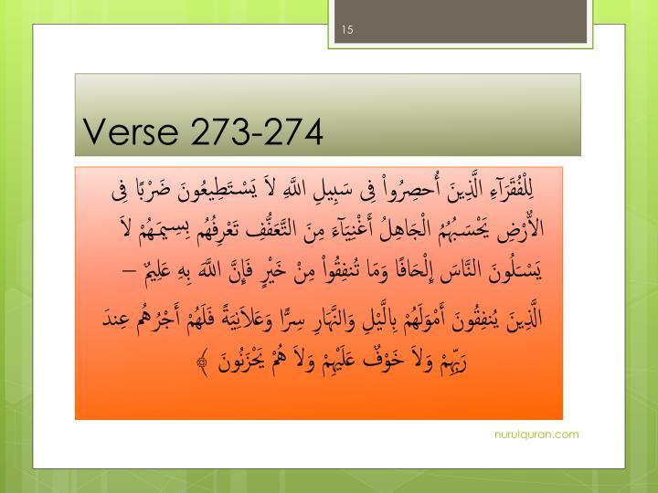 Verse 273-274