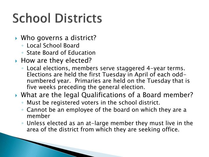 School districts1