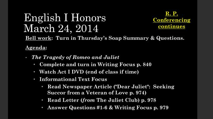 English i honors march 24 2014