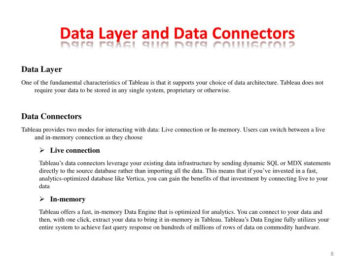 Data Layer and Data Connectors