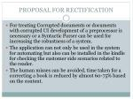 proposal for rectification