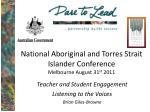 national aboriginal and torres strait islander conference melbourne august 31 st 2011