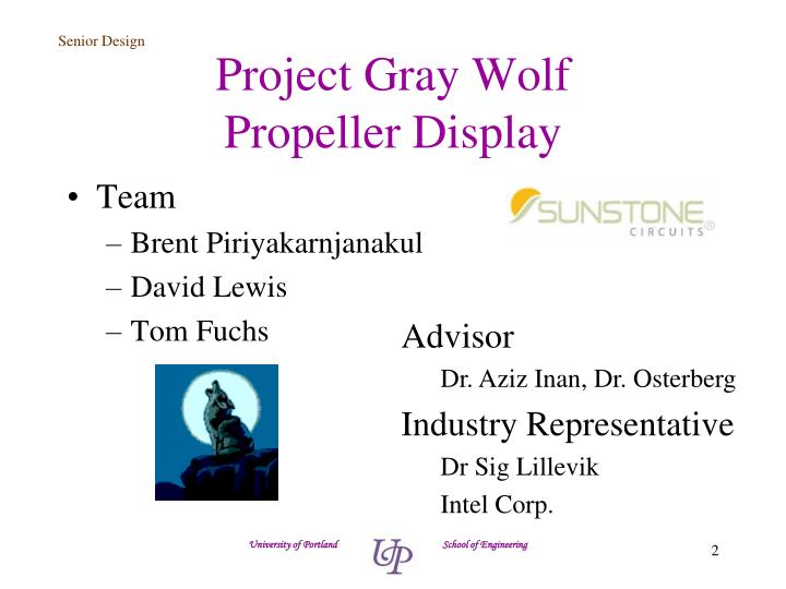 Project gray wolf propeller display