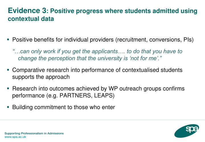 Positive benefits for individual providers (recruitment, conversions, PIs)