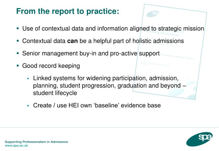 Use of contextual data and information aligned to strategic mission