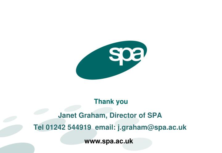 Janet Graham, Director of SPA