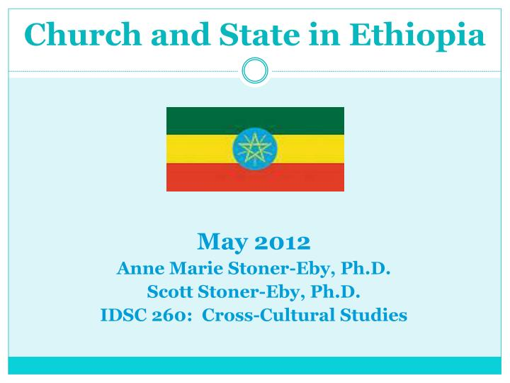 church and state in ethiopia n.