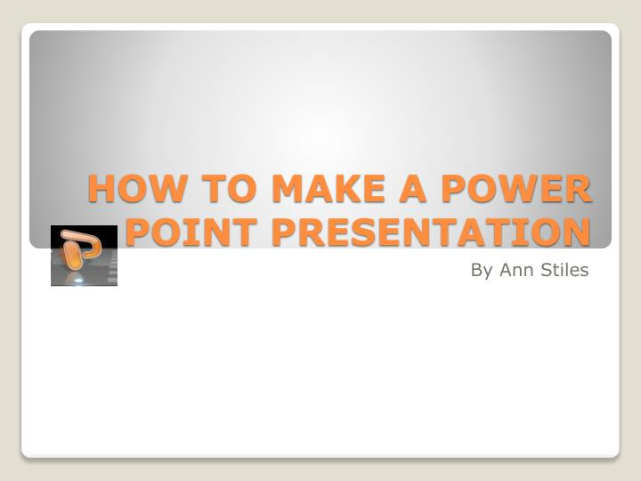 how to make a power point presentation n.