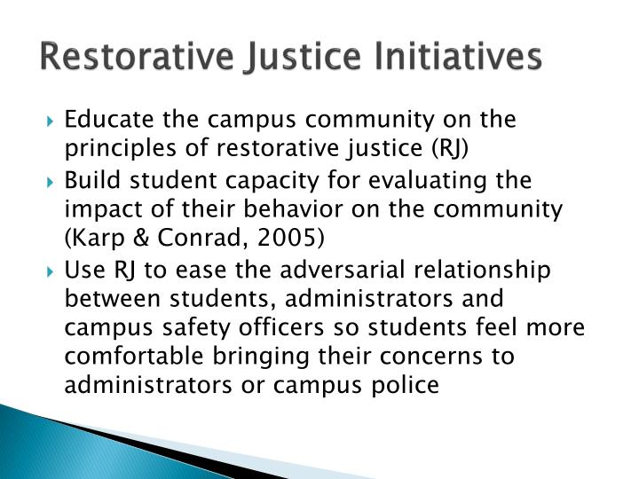 Restorative Justice Initiatives