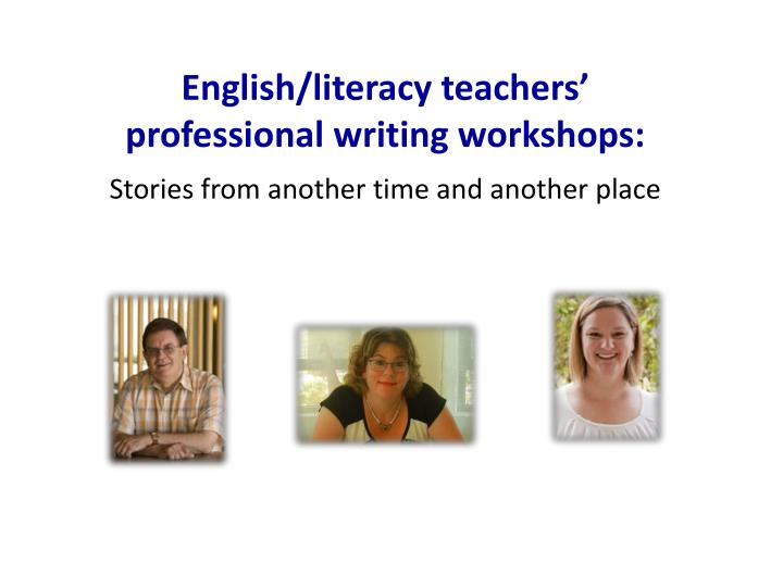 English/literacy teachers