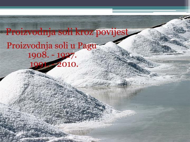 Proizvodnja soli kroz povijest
