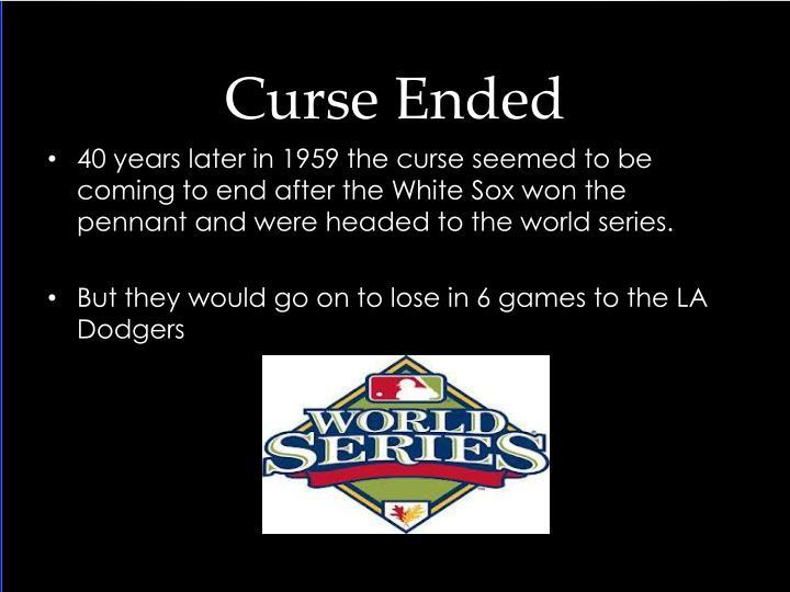 Curse Ended