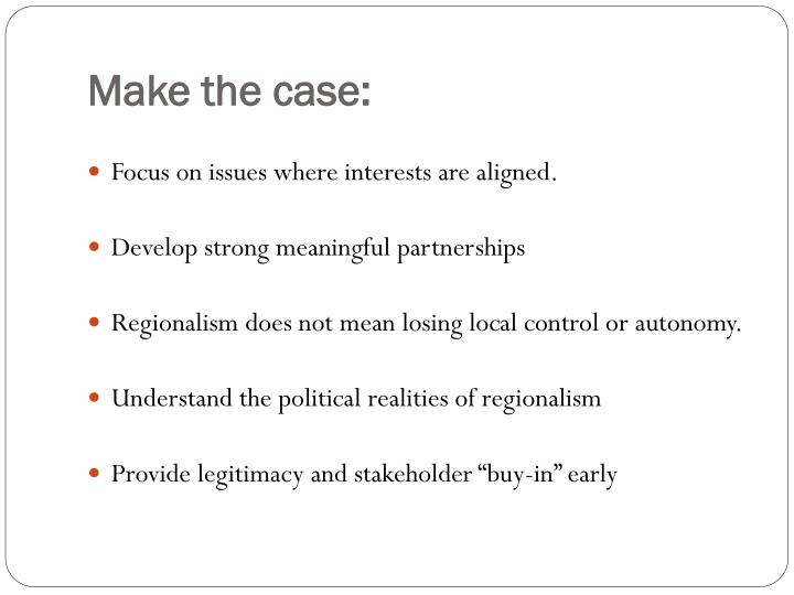 Make the case: