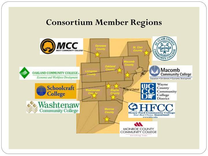 Consortium Member Regions