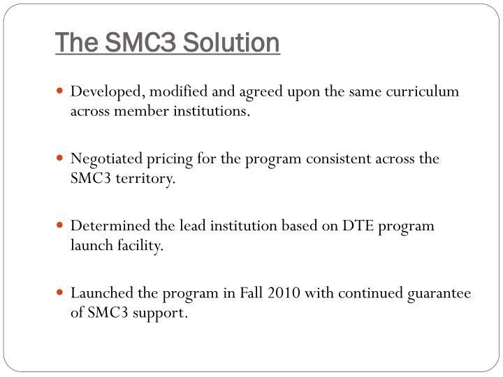 The SMC3 Solution