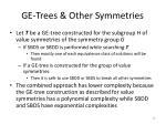 ge trees other symmetries