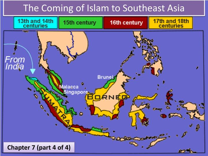 islam in southeast asia Southeast asia or southeastern asia is a subregion of asia  samudera pasai converted to islam in 1267, the king of malacca parameswara married the princess of.