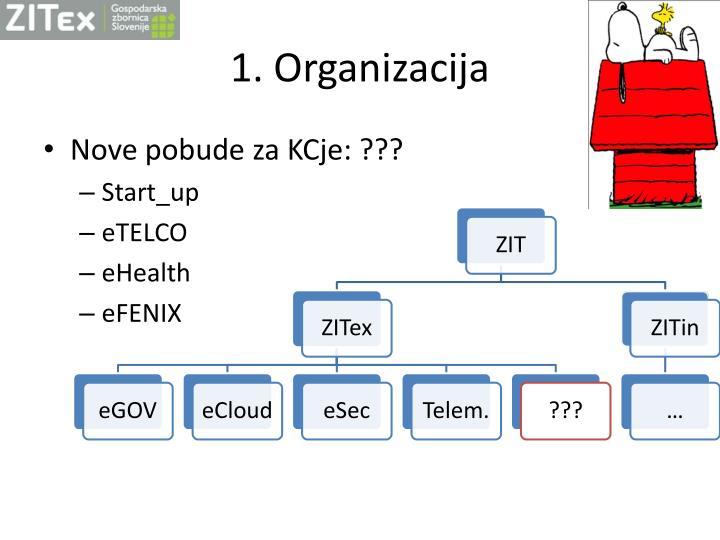 1 organizacija