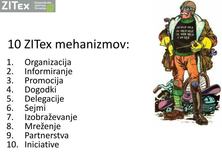 10 zitex mehanizmov