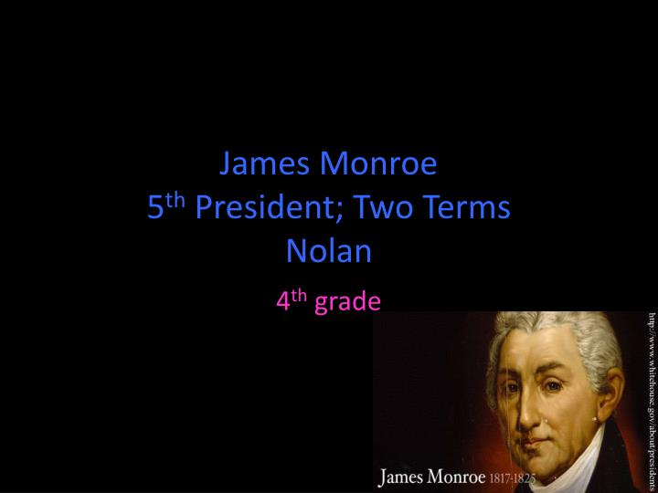 """james monroeamericas fifth president essay James monroes's major contributions monroe said """"not only latin america must be left alone but this is a essay i wrote about james monroe."""