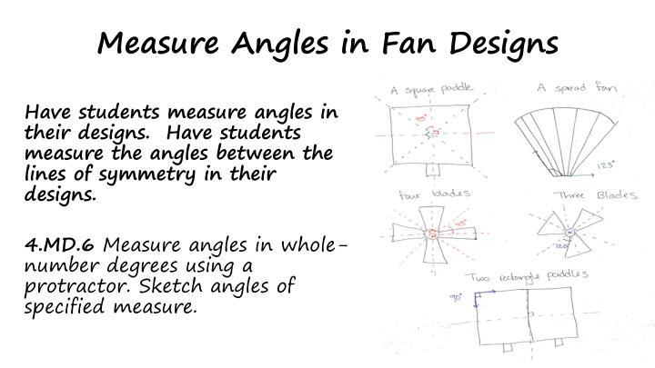 Measure Angles in Fan Designs