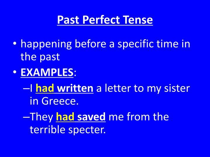 PPT - Verb Tense PowerPoint Presentation - ID:2502675