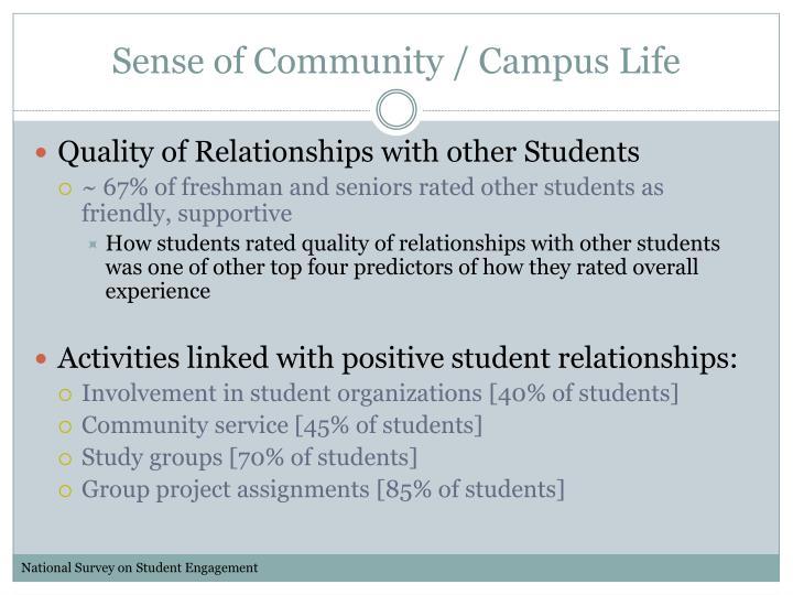 Sense of Community / Campus Life