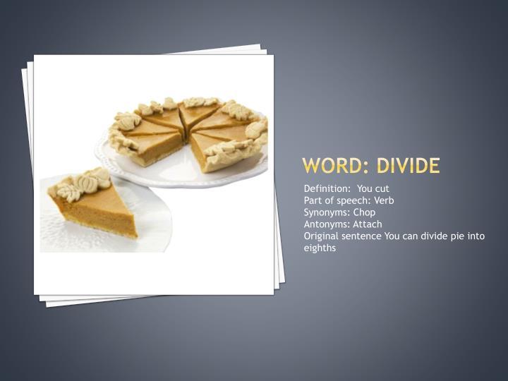 Word: divide
