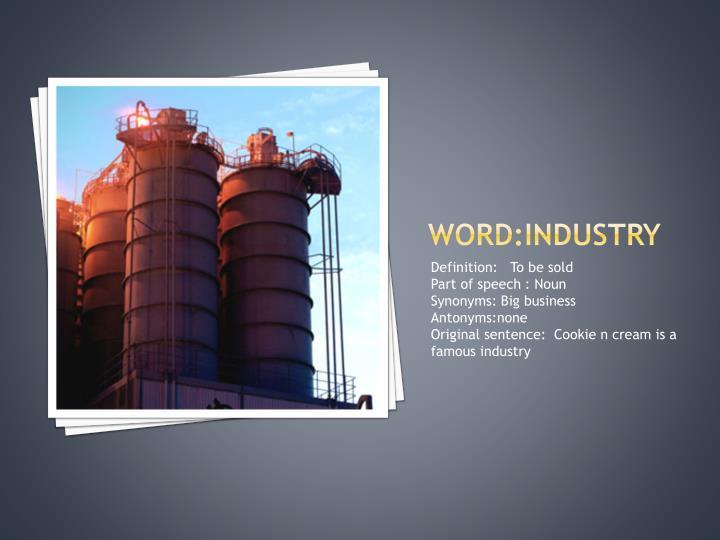 Word:industry