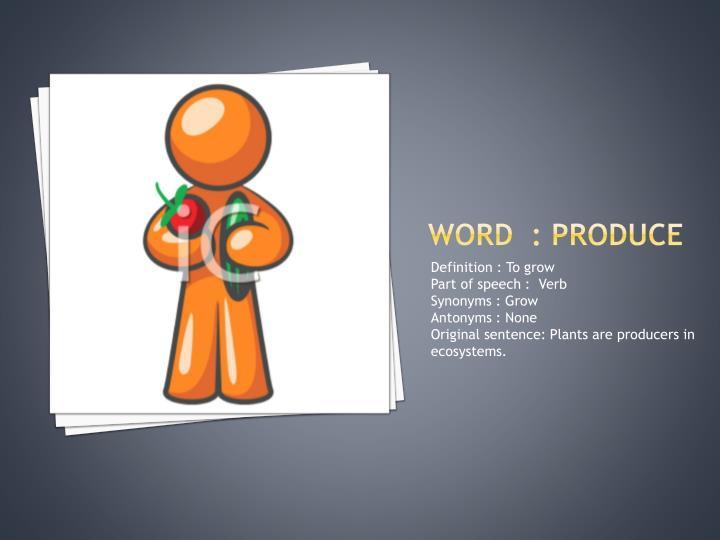 Word  : produce