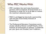 who pec works with