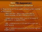 new tsi assessment texas success initiative