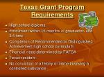 texas grant program requirements