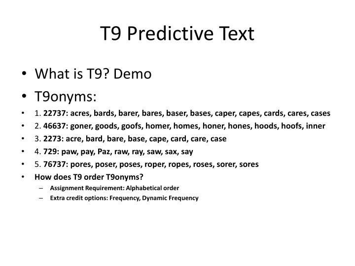 T9 predictive text