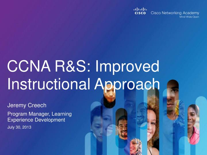 ccna r s improved instructional approach