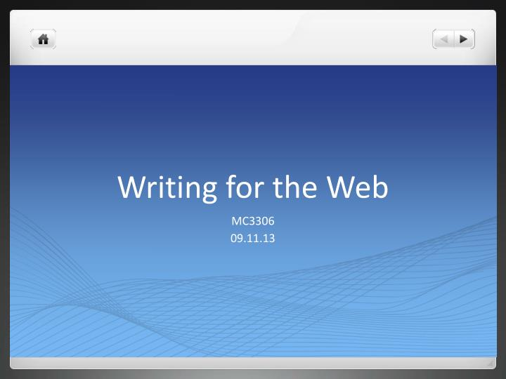 writing for the web n.