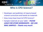 who is cpo science