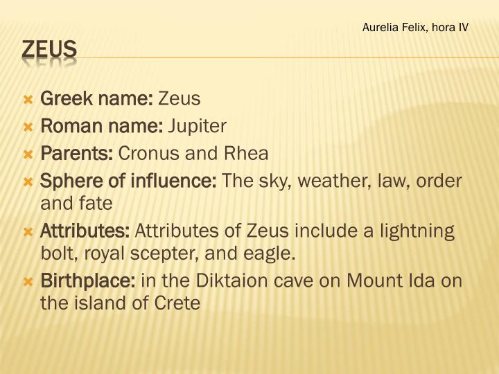 an introduction to the life of zeus the son of cronus and rhea An introduction to greek mythology: he is the youngest son of cronus and rhea she is the wife of zeus and daughter of cronus and rhea.