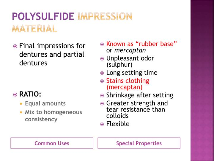 Ppt Elastomeric Impression Materials Powerpoint