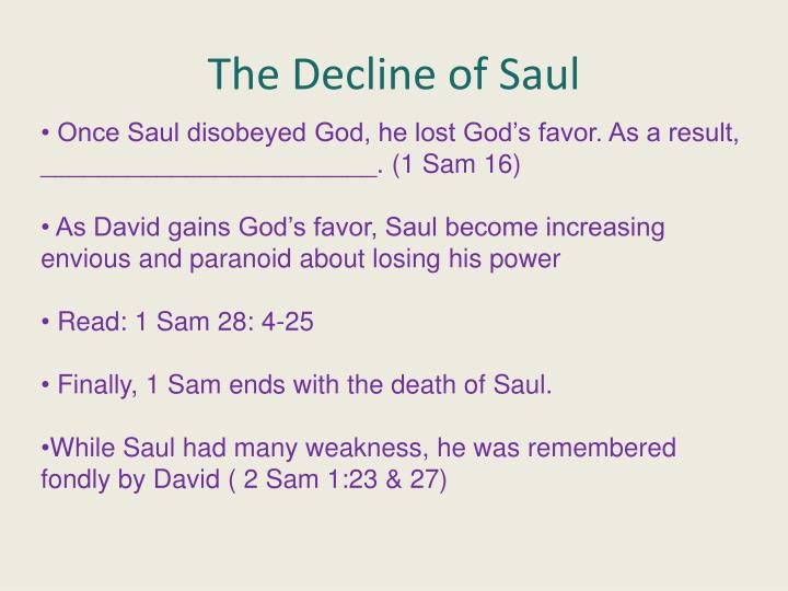 The Decline of Saul