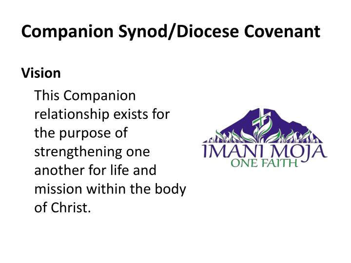 Companion synod diocese covenant