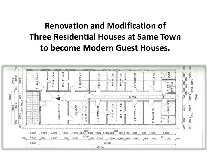 Renovation and Modification of