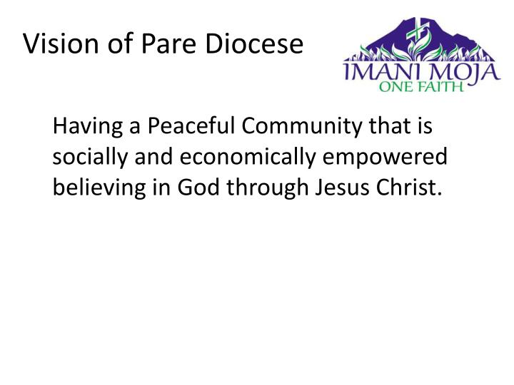 Vision of Pare Diocese
