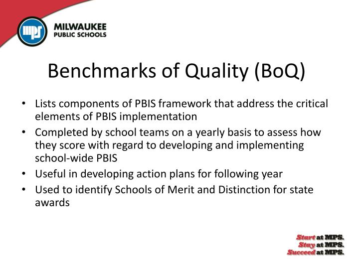 Benchmarks of Quality (