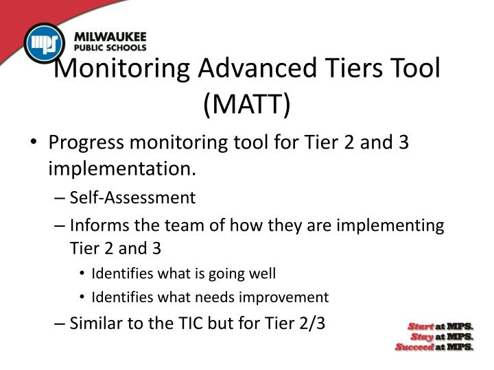 Monitoring Advanced Tiers