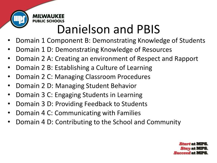 Danielson and PBIS