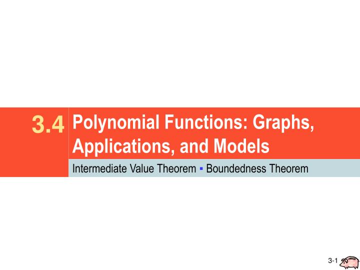 polynomial functions graphs applications and models n.