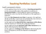 teaching portfolios lund1