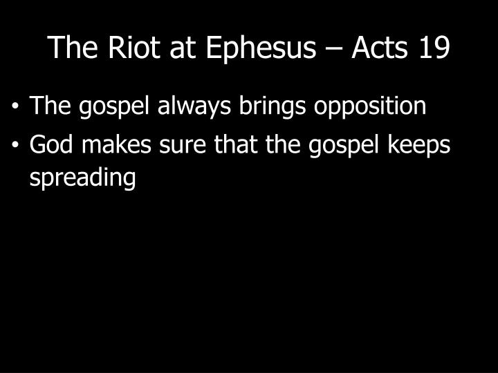 The riot at ephesus acts 192