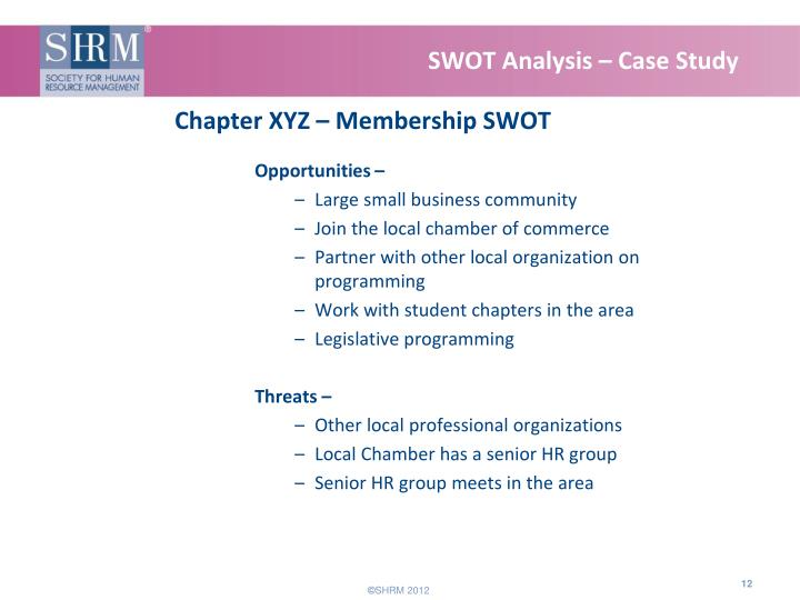SWOT Analysis – Case Study